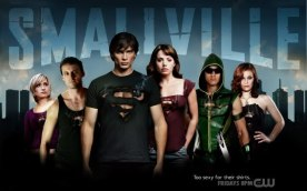 some of the characters from the show but no Hawkman...whyyyyyy?? he was awesome AND sexy :D