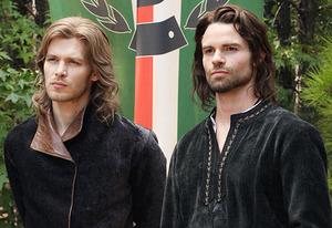 the original vampires at play, Klaus and Elijah looking kinda sexy with the long locks ;)
